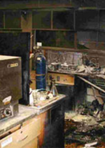 Lab Fire Aftermath