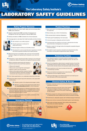 Fisher/LSI Lab Safety Guidelines Poster