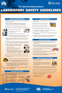 Lab Safety Guidelines Poster