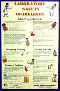 Fisher Lsi Lab Safety Guidelines Poster Lab Safety Institute