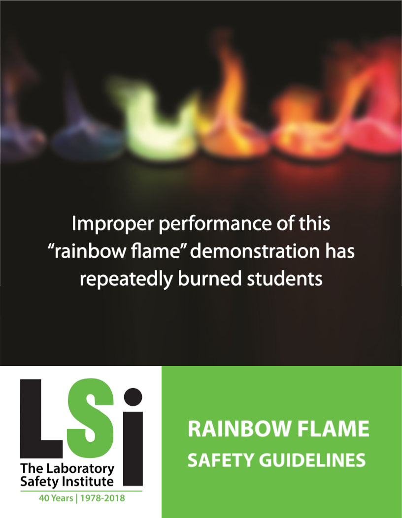 Rainbow flame demonstration cover